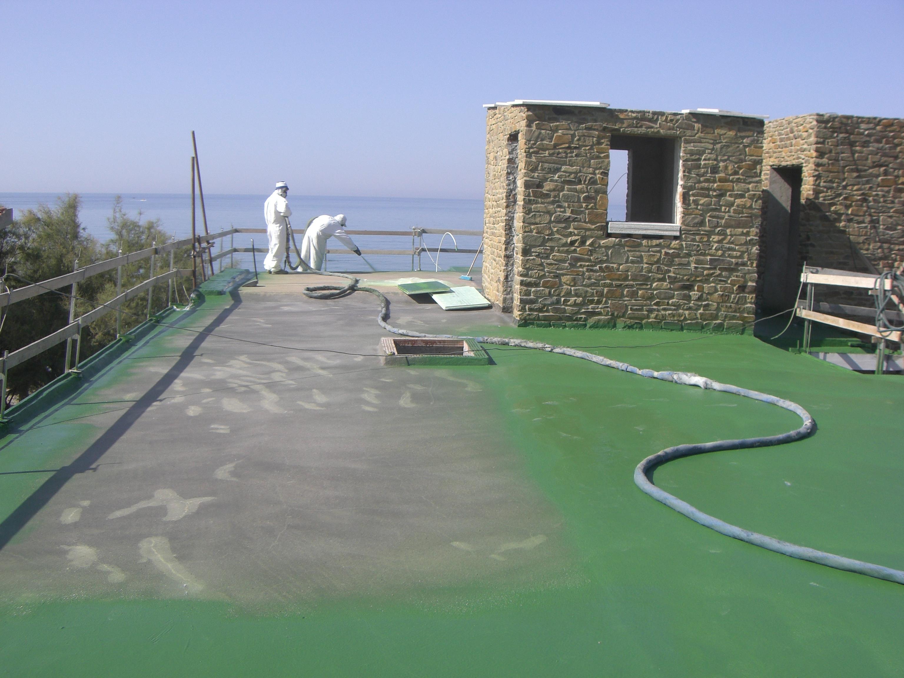 Impermeabilizzazione terrazzi a spruzzo