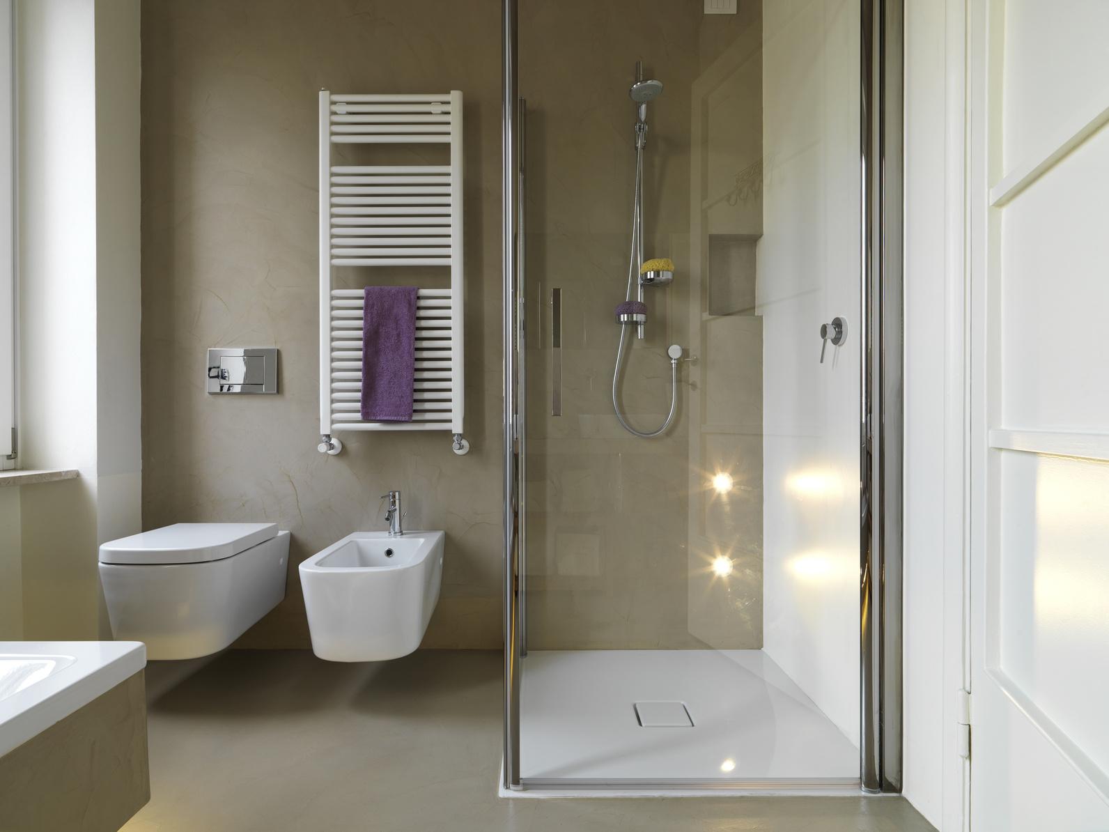 Pavimenti industriali in resina » bagno moderno con doccia ...